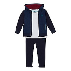 Baker by Ted Baker - Boys' Navy Hoodie, Printed T-shirt and Trousers Set
