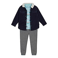Baker by Ted Baker - Boys' Multicoloured Shacket, T-shirt and Trousers Set