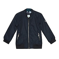 Baker by Ted Baker - Boys' Navy Perforated Bomber Jacket