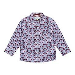 Baker by Ted Baker - Boys' multicoloured pheasant print long sleeve shirt