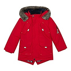 Baker by Ted Baker - Boys' red showerproof parka jacket