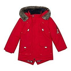 e1cf858b1 Baker by Ted Baker - Boys  red showerproof parka jacket