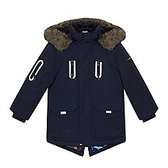 Baker by Ted Baker - Boys' navy shower resistant coat