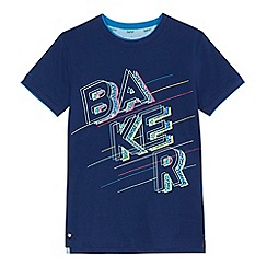 Baker by Ted Baker - 'Boys' navy logo print t-shirt