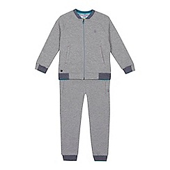 Baker by Ted Baker - Boys' grey quilted bomber jacket and jogging bottoms set