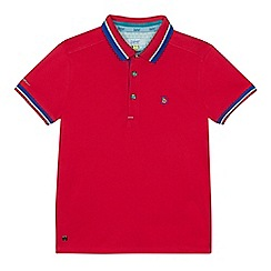 Baker by Ted Baker - 'Boys' pink tipped polo shirt