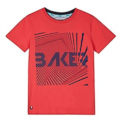 Baker by Ted Baker - Boys' red graphic print t-shirt