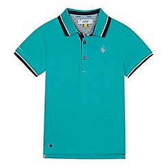 Baker by Ted Baker - 'Boys' green Oxford polo shirt