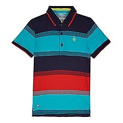 Baker by Ted Baker - Boys' multicoloured striped polo shirt