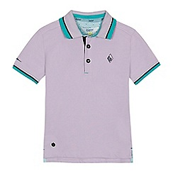 Baker by Ted Baker - 'Boys' lilac Oxford polo shirt