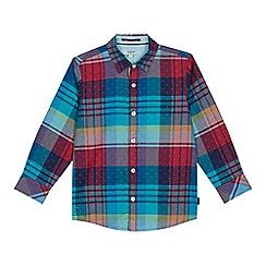 Baker by Ted Baker - Boys' multi-coloured checked shirt