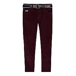 Baker by Ted Baker - Boys' plum slim fit cord chinos