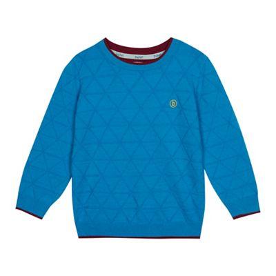 1a804762e282 Baker by Ted Baker Boys  Blue Geometric Knit Jumper with Merino Wool ...