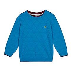 4b87239e4618f Baker by Ted Baker - Boys  Blue Geometric Knit Jumper with Merino Wool