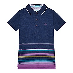 Baker by Ted Baker - Boys' multicoloured striped print polo shirt