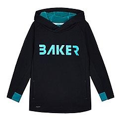 Baker by Ted Baker - Boys'Black Foil PrintLogo Hoodie