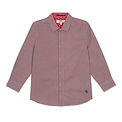 Baker by Ted Baker - Boys' Multicoloured Geometric Long Sleeve Shirt