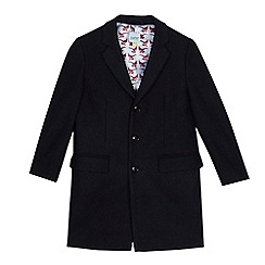 Baker by Ted Baker - Boys' navy wool blend coat