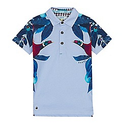 Baker by Ted Baker - Boys' multicoloured floral print polo shirt