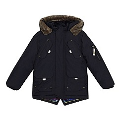 Baker by Ted Baker - 'Boys' navy showerproof parka jacket