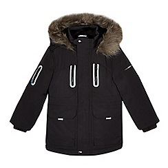 Baker by Ted Baker - Boys' navy showerproof parka jacket