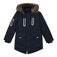 Baker by Ted Baker - Boys' navy shower resistant parka