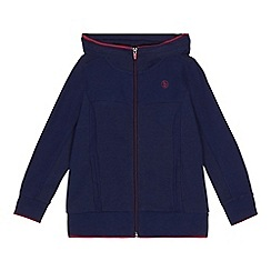 Baker by Ted Baker - 'Boys' navy long sleeve hooded sweatshirt