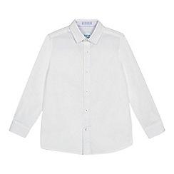 Baker by Ted Baker - Boys' white printed long sleeve shirt