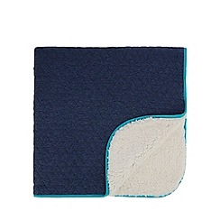 57a70268d8b7ac Baker by Ted Baker - Baby Boys  navy quilted borg blanket