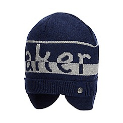 Baker by Ted Baker - Baby Boys' Navy Striped Hat with Merino Wool