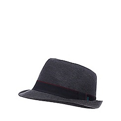 Baker by Ted Baker - Boys' Navy Herringbone Textured Trilby Hat
