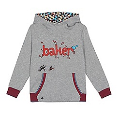 Baker by Ted Baker - Boys' grey 'Beano' print hooded sweatshirt