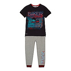 Baker by Ted Baker - Boys' multi-coloured 'Beano' print top and jogging bottoms set