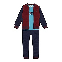 Baker by Ted Baker - Boys' multicoloured 'Beano' print sweatshirt, top and bottoms set