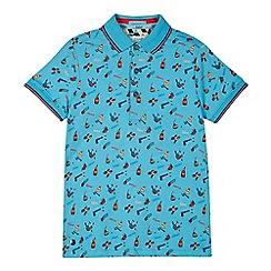 Baker by Ted Baker - Boys' blue 'Beano' print polo shirt