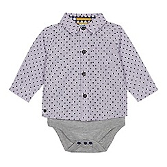 Baker by Ted Baker - Baby Boys' Lilac Geometric Print Shirt Bodysuit