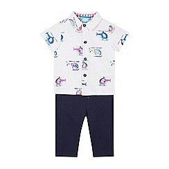 Baker by Ted Baker - Baby Boys' Multicoloured Helicopter Print Shirt and Trousers Set