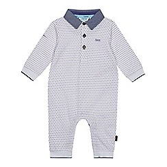 a4015d34f91f89 Baker by Ted Baker - Baby Boys  White Geometric Print Romper Suit