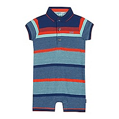 Baker by Ted Baker - Baby Boys' Multicoloured Striped Polo Romper Suit