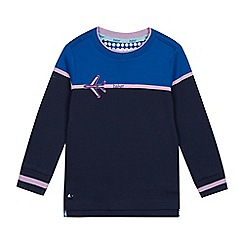 Baker by Ted Baker - Boys' Pale Blue Aeroplane Applique Sweater