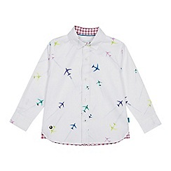 Baker by Ted Baker - Boys' Multicoloured Aeroplane Print Long Sleeve Shirt