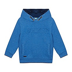 Baker by Ted Baker - Boys' Bright Blue Embossed Logo Hoodie