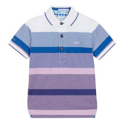 eea7b4e774466e Baker by Ted Baker - Boys  Multicoloured Striped Polo Shirt