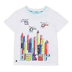 Baker by Ted Baker - Boys' White Helicopter Logo Print Cotton T-Shirt