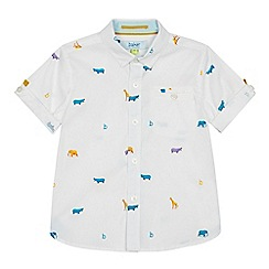 Baker by Ted Baker - Boys' Multicoloured Animal Print Short Sleeve Shirt