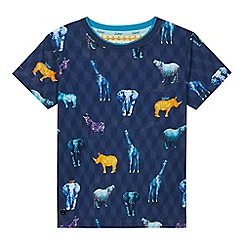 Baker by Ted Baker - Boys' Multicoloured Safari Print Cotton T-Shirt