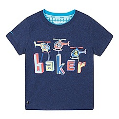 Baker by Ted Baker - Boys' Navy Helicopter Logo Print Cotton T-Shirt