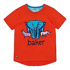 d05580c49387 Baker by Ted Baker - Boys  Orange Safari Applique T-Shirt