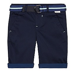 Baker by Ted Baker - Boys' Navy Belted Chinos Shorts