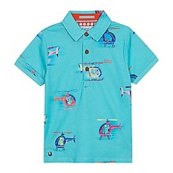 Baker by Ted Baker - Boys' Green Helicopter Print Polo Shirt